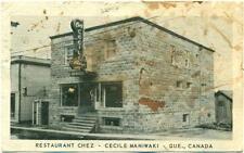 c. 1954 MANIWAKI, QC, CANADA, RESTAURANT CHEZ CECILE POSTCARD
