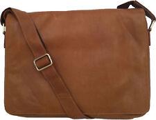 """Unicorn Vera Pelle COGNAC 16,4 """"Laptop / Netbook Messenger Bag # 3L"""