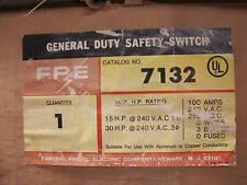 Fpe 7132 100 Amp 240 Volt 3p3w Vintage Disconnect New B