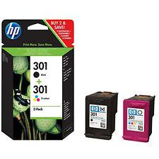 2 ORIGINAL HP 301 TINTE PATRONEN DESKJET 1050 1055 2050A 3000 3050A (N9J72AE)