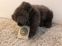 "Boyds Bears ""Henson"" Grizzly Bear 11"" Dark Brown. New w/Tags. 1998 Retired 2000"
