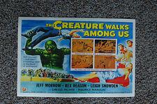 The Creature Walks Among Us Lobby Card Movie Poster Jeff Marrow