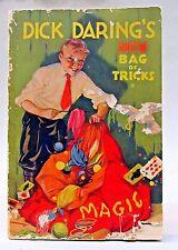1934 DICK DARING'S NEW BAG OF TRICKS Magic Book Quaker cereal premium
