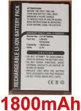 Batterie 1800mAh Pour RoyalTek RBT-2010 BT GPS