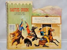 Vintage Hallmark Pop-Up Card Book Cactus Creek A Western Town Rare