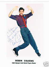 Robin Cousins British  world champion Ice Skater Hand Signed Photo 7 x 5