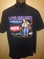 Vtg Levi Strauss & Co T-shirt Cowboy Western Two Horse Brand 2-sided 1993 Levis