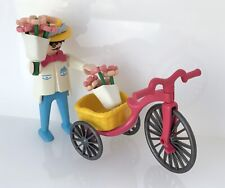 Playmobil Victorian Flower Man Tricycle 5400 Vintage Dolls House Mansion Figure