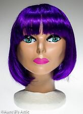 Wig Purple Bob Style Synthetic Fiber Mardi Gras Costume Cos Play Halloween Wig