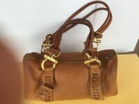 CHARLES DAVID Bag Beautiful Very Soft Quality Leather Tan  Color