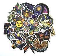 Hippie Psychedelic Boho Bohemian Sticker Pack Lot, Laptop PVC Vinyl Decals 25pcs