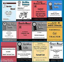 IH FARMALL Cub LoBoy TRACTOR Parts OWNER Implement SERVICE Manual -26- MANUALS