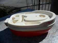 Vintage 1986 Playskook Li'l Playmates White Red Plastic Flotaing Boat Unimax Toy