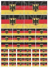 40 adesivi BANDIERA GERMANIA germany TEDESCA FLAG VINILE AUTO STICKERS IMPERMEAB