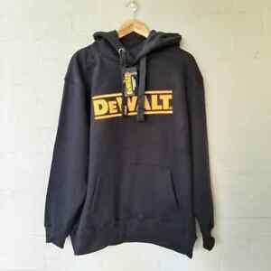 DeWalt Hoodie Guaranteed Tough Hooded Jumper Embroidered Logo Black Size 2XL  A5