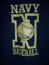 XL USA NAVY BASEBALL T-SHIRT navy blue #207 mint condition Extra Large