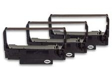 3x Cinta de Impresora Negro Nylon para Samsung SRP 270, SRP 280