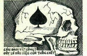 Vietnam War Photo Ace of Spades Death's Head Card 2295