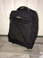 Vera Bradley Rolling Wheeled Carry on Luggage Bag in Solid Black