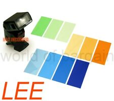 10 LEE Flash Gel Filters for Nikon Canon Speedlight Strobe COLOR BALANCE CTO CTB