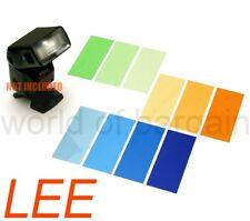 10 Lee Flash Gel Filters for Nikon Canon Speedlight Strobe Color Balance Cto Ctb