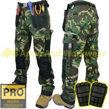 Work Trouser Tough Multi Pocket Pants Triple Stitched Workwear + FREE KNEE PADS