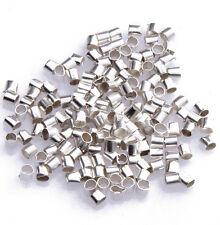 1000Pcs Metal Crimps Stopper Beads - Silver/Gold/Black/Bronze/Copper