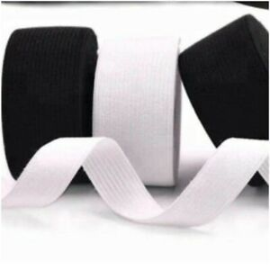 Best Quality 1 & 2 Inch Flat Woven Elastic In Black  & White Colour