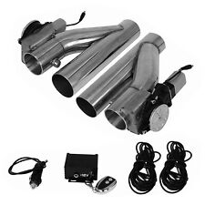 "2Pc 2.5"" Electric Exhaust Downpipe E-cut Out Valve & One Controller Remote Kit"
