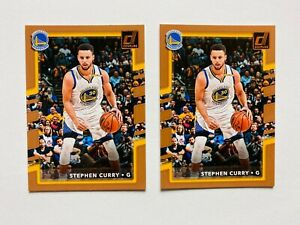 (2) 2017-18 Donruss Stephen Curry Card Lot #46, Warriors Star!