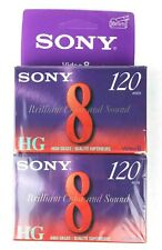 SONY 2 pack 8 mm high grade HG blank video new sealed 120 minutes each Video 8