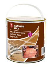 LTP Antique Wax for Ageing & Sealing Tiles, Brick, Stone. Medium Brown 2.5 Litre