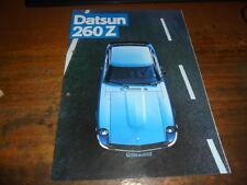 Prospekt Sales Brochure Datsun 260 Z Sportwagen Auto Car 1975
