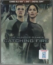 The Hunger Games: Catching Fire STEELBOOK Blu-ray+DVD+Digital -NEW-