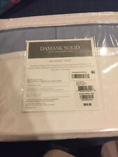 Charter Club Damask Solid Twin Tailored Bedskirt Blue Cotton