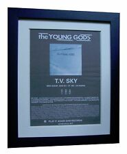THE YOUNG GODS+T.V. Sky+POSTER+AD+RARE ORIGINAL 1992+FRAMED+EXPRESS GLOBAL SHIP