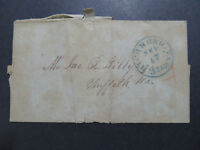 US 1832 Richmond CA 3 PAID Stampless Cover / Damaged Back / No Letter - Z8198
