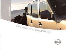 Prospekt / Brochure Nissan Terrano 04/2002