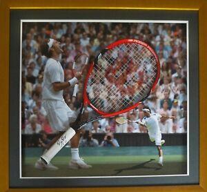 Framed and signed Roger Federer Wilson Racquet