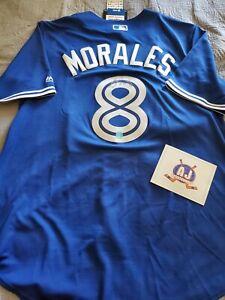 Kendrys Morales Toronto Blue Jays Autograph Baseball Jersey COA/AJ Sportworld