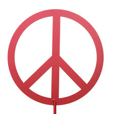 SWEN Products PEACE SIGN Metal Tall Steel Yard Art