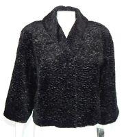 NWT KRISTIN BLAKE NORDSTROM Black 1950s Retro Texture Jacket Small $118.00 /649