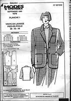 ▬► Patron Couture Modes et Travaux Veste Lainage T 38 42 46 Septembre 1990