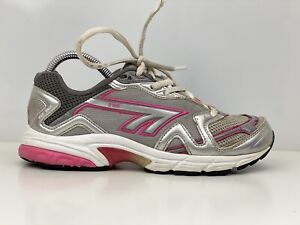 Hi Tec R106 Womens Grey And Pink Mesh Running Trainers UK Size 5