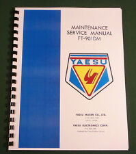 "Yaesu FT-901DM / FT-902DM Service Manual:17"" Foldout Diagrams & Plastic Covers"
