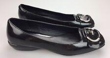 Cole Haan Air Ballet Flat Shoes Women's 6.5 B Black Patent Leather Buckle Detail