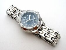 New Genevex Ladies Date Watch Silver Gray Water Resistant Japan Quartz Works