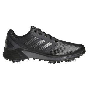 NEW Mens Adidas 2021 ZG21 Golf Shoes Black / Silver / Grey 10.5 WIDE