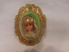Gold Locket Doll Rare Yellow Dre Original Mattel 1966 Liddle Kiddles-Flower Mini