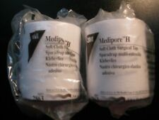 "Medipore H Soft Cloth Surgical Tape 3""x10yds Brand 2 Rolls"